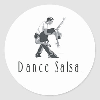 TOP Dance Salsa Classic Round Sticker
