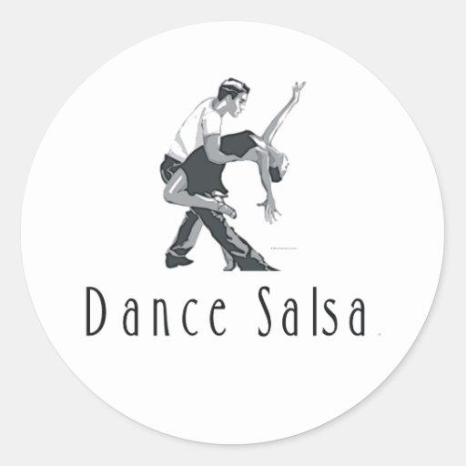 TOP Dance Salsa Round Sticker
