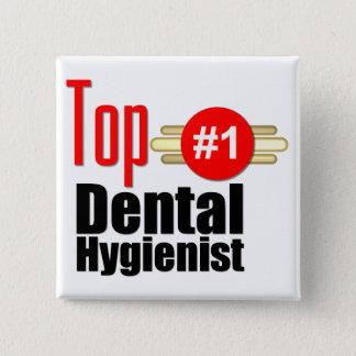 Top Dental Hygienist 15 Cm Square Badge