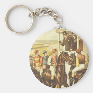 TOP Derby Day Basic Round Button Key Ring