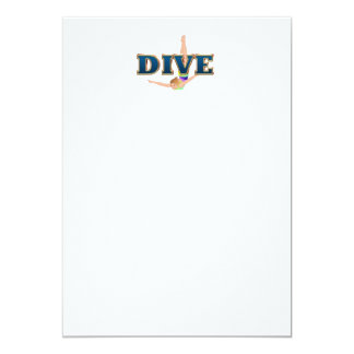 TOP Dive 13 Cm X 18 Cm Invitation Card
