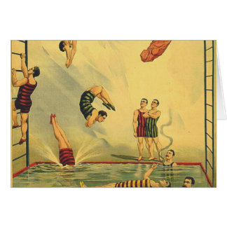 TOP Diving Old School Greeting Card