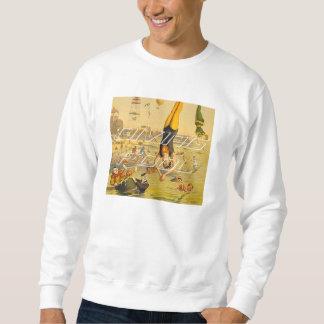TOP Diving Slogan Pullover Sweatshirt