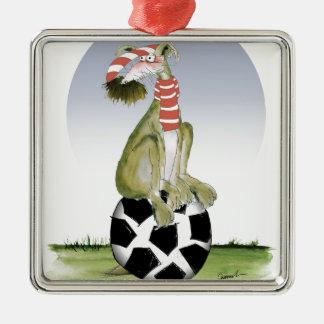 top dog reds soccer christmas ornament