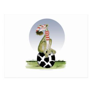 top dog reds soccer postcard