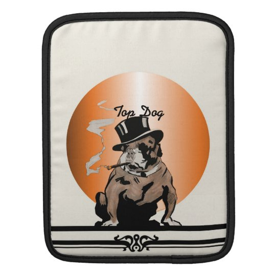 Top Dog Sleeve Vintage Bulldog with Cigar Sleeve For iPads