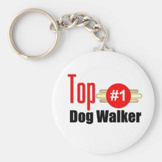 Top Dog Walker Basic Round Button Key Ring