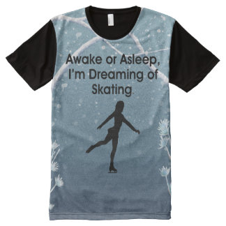 TOP Dreaming of Skating All-Over Print T-Shirt