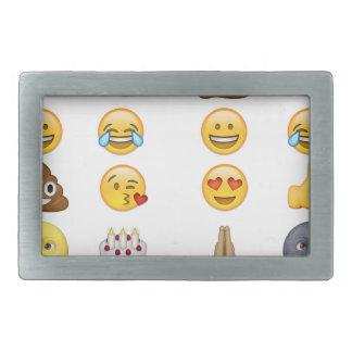 Top emoji collection rectangular belt buckles
