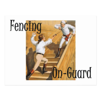 TOP Fencing On-Guard Postcard