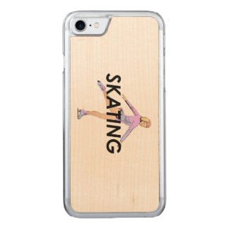 TOP Figure Skating Girl Carved iPhone 8/7 Case
