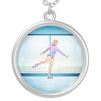 TOP Figure Skating Girl Custom Necklace