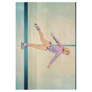 TOP Figure Skating Girl Wood Poster