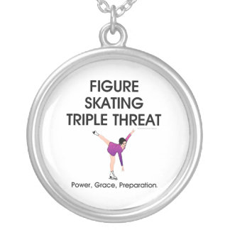 TOP Figure Skating Triple Personalized Necklace