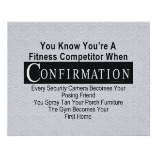 TOP Fitness Competitor Poster