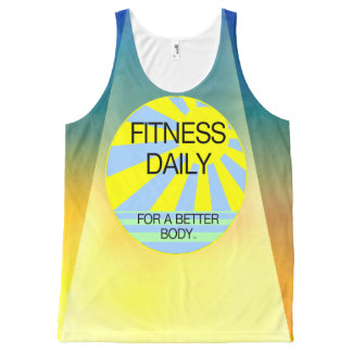 TOP Fitness Daily All-Over Print Tank Top
