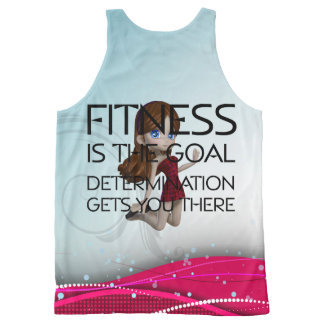 TOP Fitness Goal All-Over Print Tank Top