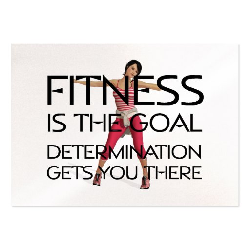 TOP Fitness Goal Business Cards