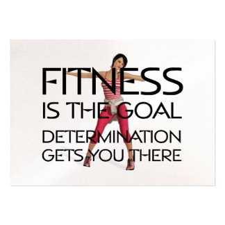 TOP Fitness Goal Pack Of Chubby Business Cards