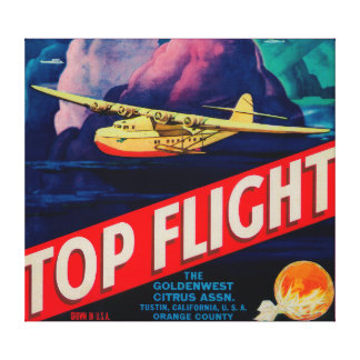 Top Flight Orange LabelTustin, CA Canvas Print