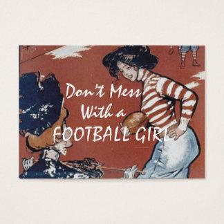 TOP Football Girl Business Card