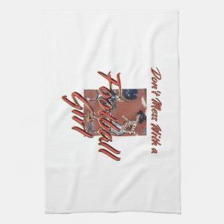 TOP Football Girl Tea Towel