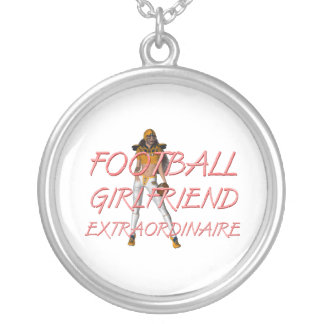 TOP Football Girlfriend Round Pendant Necklace
