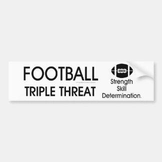 TOP Football Triple Threat Bumper Sticker