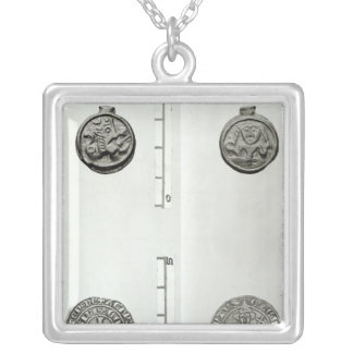 Top: Gaulish Coin of the Remes  obverse Silver Plated Necklace
