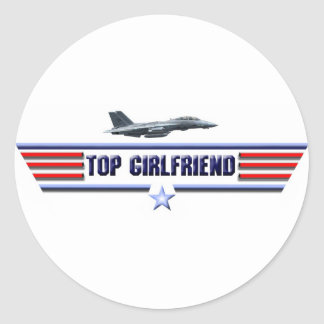 Top Girlfriend Logo Classic Round Sticker