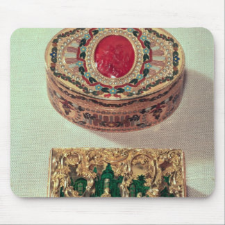 Top: Gold snuffbox inlaid with various stones Mouse Mat