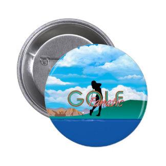 TOP Golf Fanatic 6 Cm Round Badge