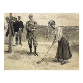 TOP Golf Girl Postcard