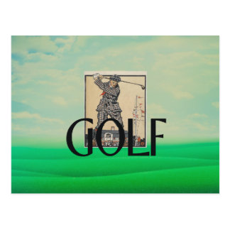 TOP Golf Old School Postcard