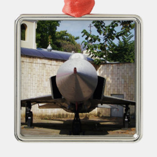 Top Gun in the suburbs. Silver-Colored Square Decoration