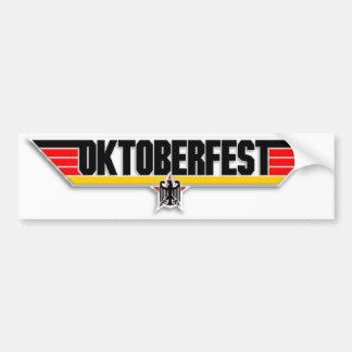 Top Gun Oktoberfest Logo German Beer Bumper Decal Bumper Sticker