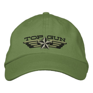 Top Gun Star Badge Pilot Wings Embroidered Baseball Cap