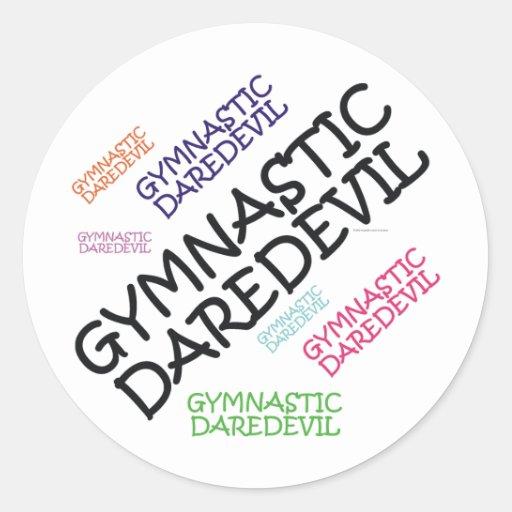 TOP Gymnastics Daredevil Classic Round Sticker