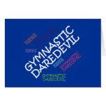 TOP Gymnastics Daredevil Greeting Card