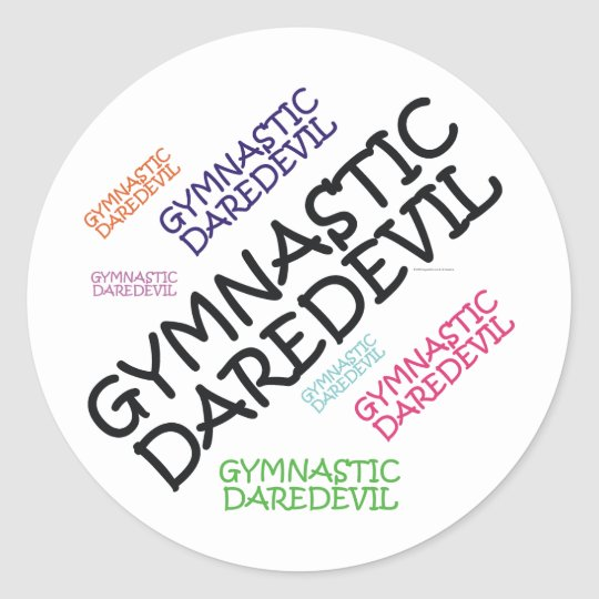 TOP Gymnastics Daredevil Round Sticker