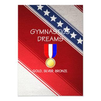 TOP Gymnastics Dreams 13 Cm X 18 Cm Invitation Card