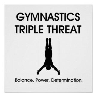 TOP Gymnastics Triple Poster