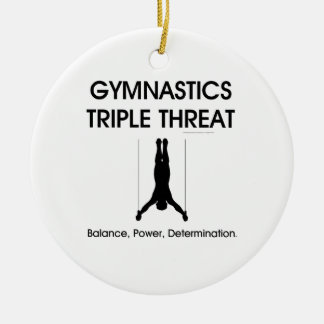 TOP Gymnastics Triple Threat Christmas Ornament