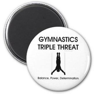 TOP Gymnastics Triple Threat (Men's) 6 Cm Round Magnet