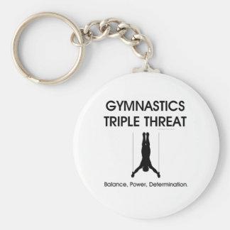 TOP Gymnastics Triple Threat (Men's) Key Ring