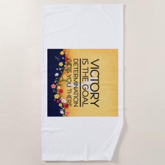 TOP Gymnastics Victory Slogan Beach Towel