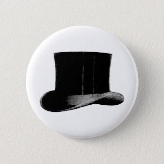top hat 6 cm round badge
