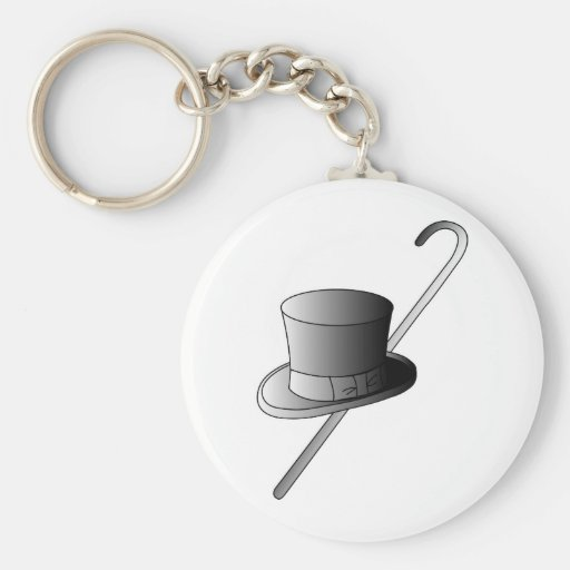 Top Hat and Cane Key Chains