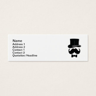 Top Hat and Mustache Mini Business Card