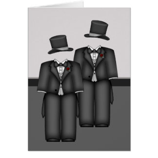 Top Hat and Tails Greeting Card